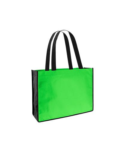 bolsa ecologica feria congreso Verde Pistacho/Negro