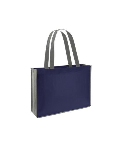 bolsa ecologica feria congreso Azul Marino/Gris
