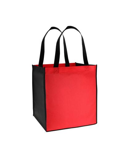 Bolsa Ecol—gica bicolor grande Rojo/Negro