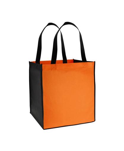 Bolsa Ecol—gica bicolor grande naranjo/ negro