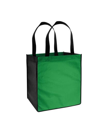 Bolsa Ecol—gica bicolor grande Verde/ Negro