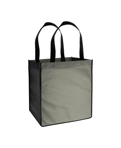 Bolsa Ecol—gica bicolor grande Negro / Gris