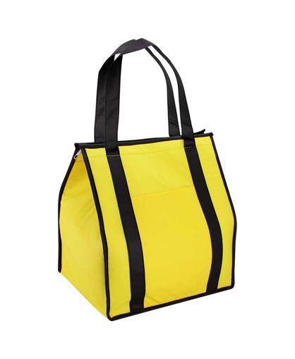 bolsa ecologica cooler amarillo