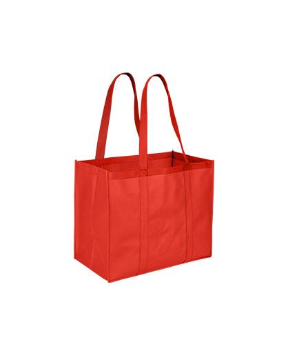 bolsa ecologica extra grande rojo