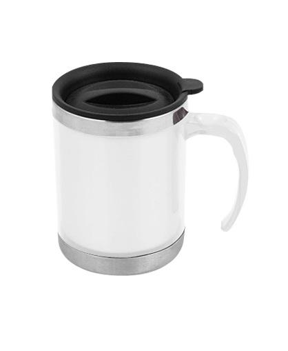 Mug de Acero Inoxidable 440cc-blanco