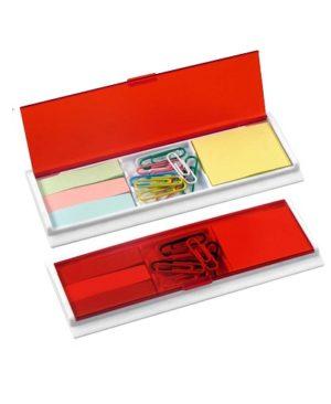 Porta Post-it con Clips rojo