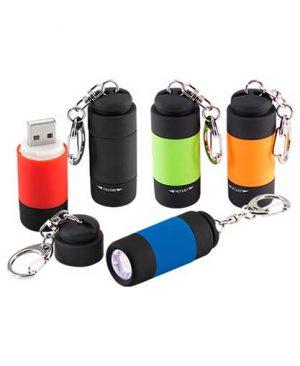 Llavero Linterna LED Cargador-USB