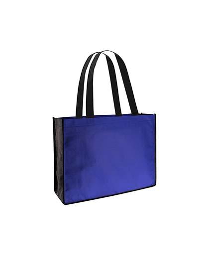 bolsa ecologica feria congreso azul con gris