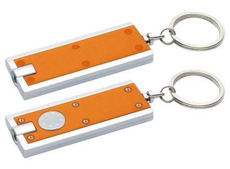 Llavero-Linterna Clásico-Naranjo