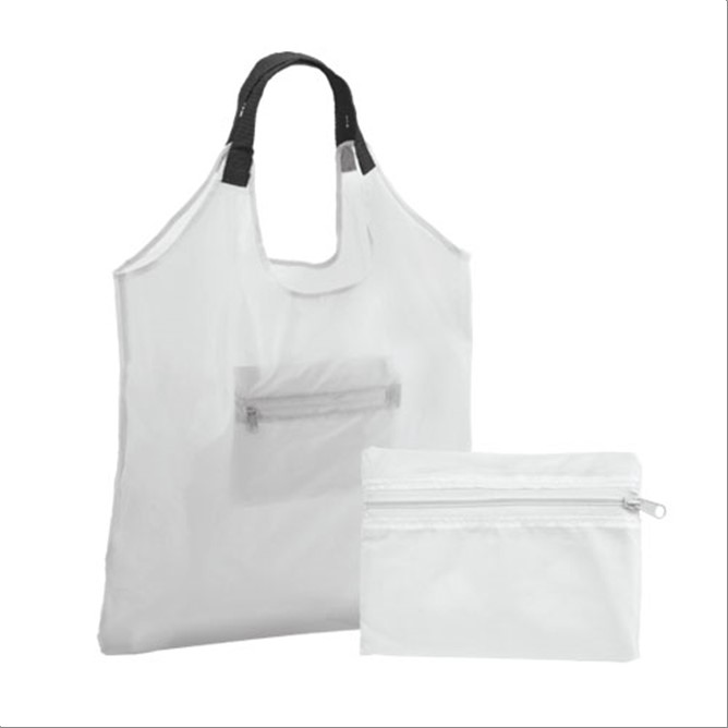 BOLSA PLEGABLE  ESTAMPADA BLANCO