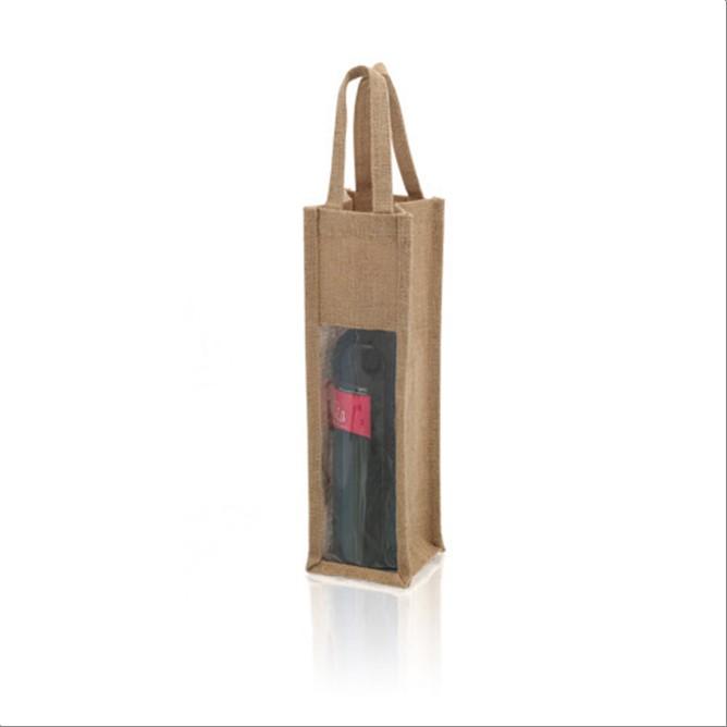 Bolsa  yute laminado  botella vino