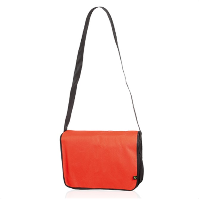 Bolso portadocumentos de tela rojo
