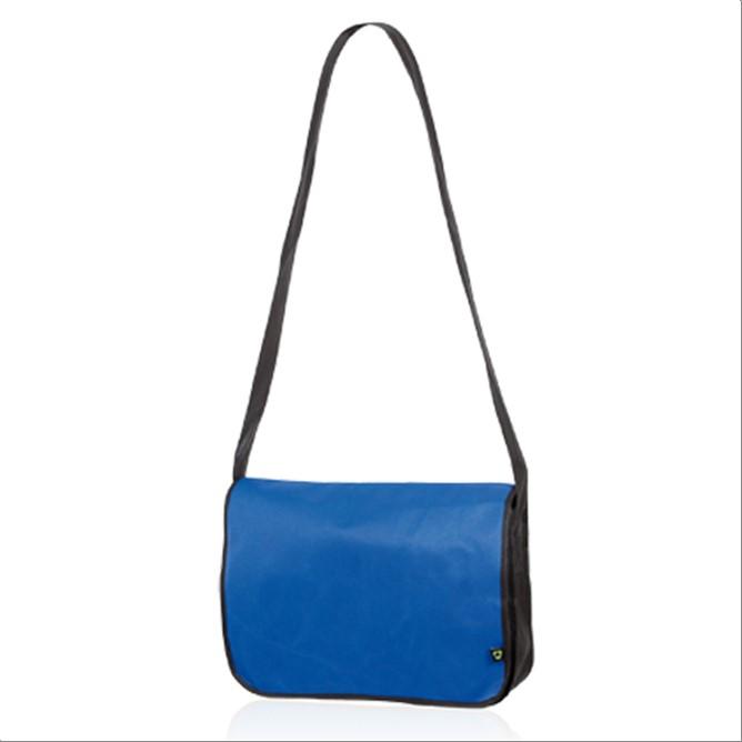 Bolso portadocumentos de tela azul