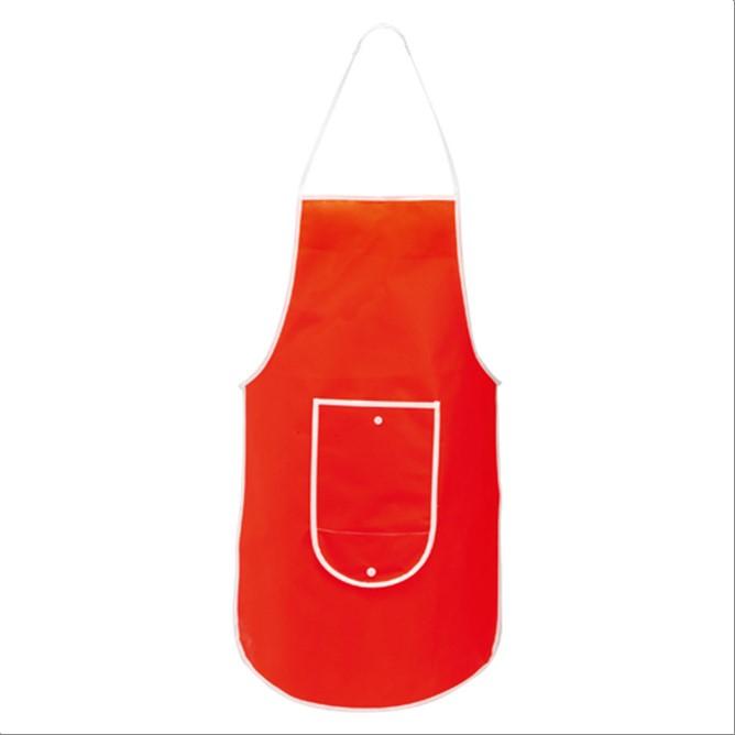 Delantal pechera plegable Rojo