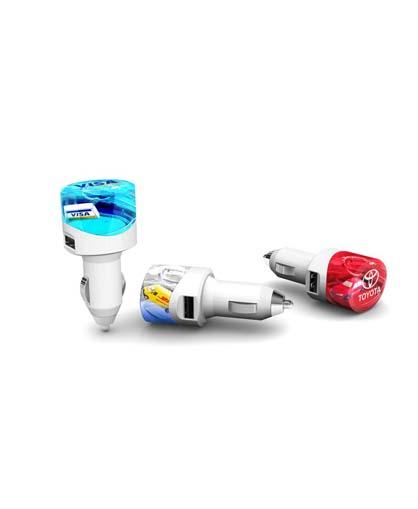 Cargador para auto USB Aqua