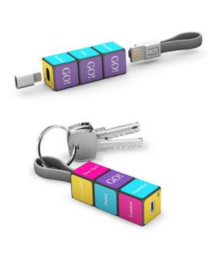 set de cable cargaor Rubik para celular