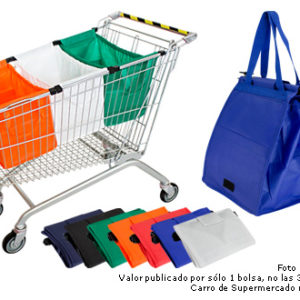 bolsa reciclable para supermercado