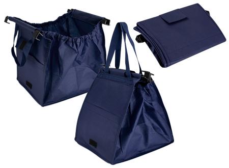 Bolsa reciclable para supermercado-azul-marino