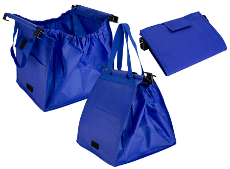 Bolsa reciclable para supermercado-azul
