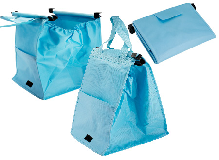 Bolsa reciclable para supermercado-celeste