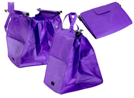 Bolsa reciclable para supermercado-morado