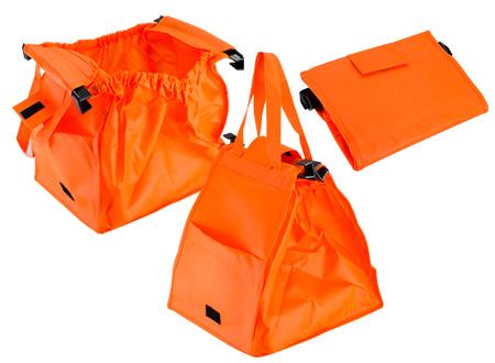 Bolsa reciclable para supermercado-naranjo