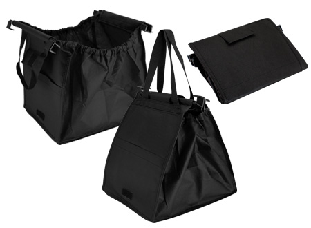 Bolsa reciclable para supermercado-negro