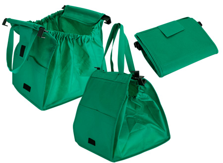 Bolsa reciclable para supermercado-verde