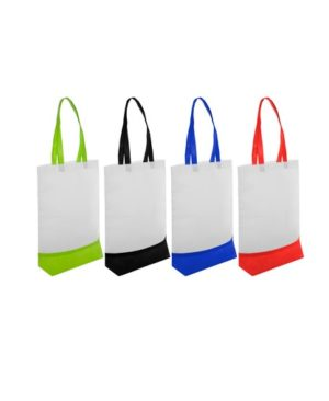Bolsa reciclable blanca colores