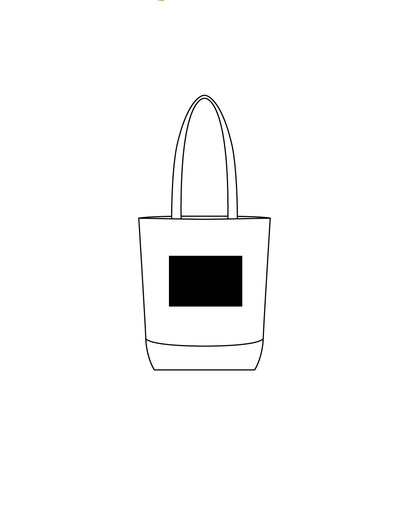 Bolsa reciclable blanca con detalles -LOGO