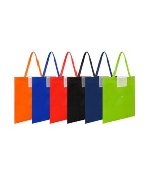Bolsa reciclable colores con boton