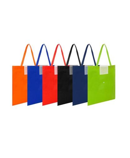 Bolsa reciclable colores con boton