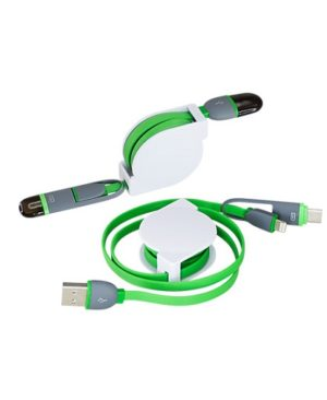 Connector Multicargador Retractil verde