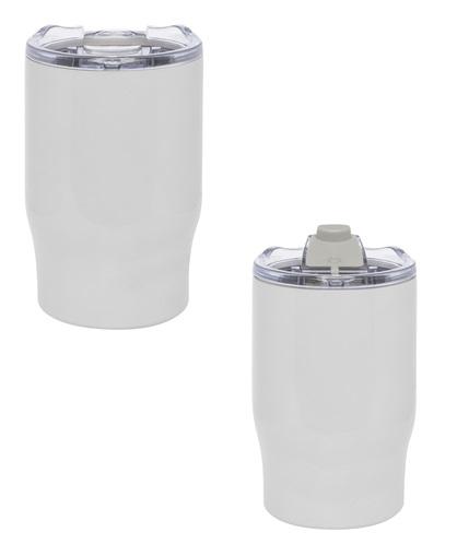 Mug doble pared de 350 ml-blanco