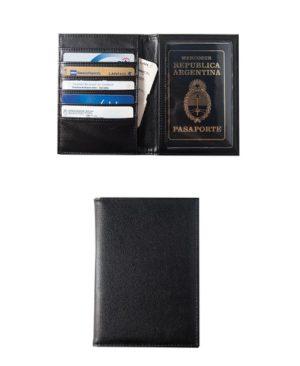 Porta pasaporte simil cuero