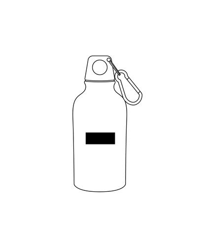 botella metalica -logo