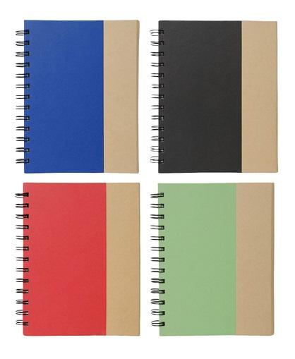 cuaderno con post it -colores