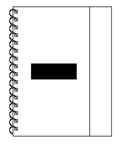 cuaderno con post it-logo