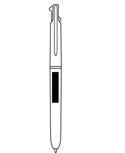 Cuerpo color blanco y dos pulsadores logo