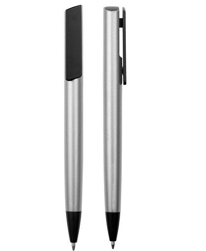 LAPIZ Clip pulsador y puntera color_PLATA