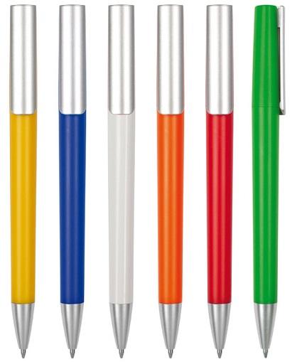 Lapiz color , clip y puntera color plata COLOR
