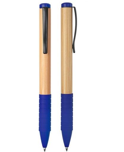 lapiz bamboo con grip de goma azul