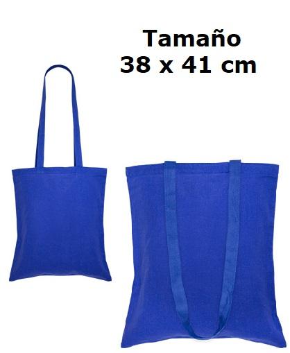 Bolsa 100% Algodón-azul