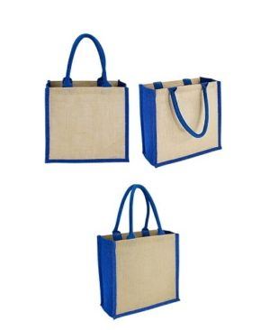 Bolsa Yute bi color-azul