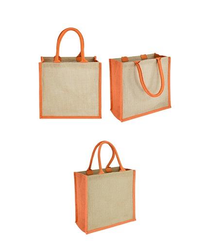 Bolsa Yute bi color-naranjo