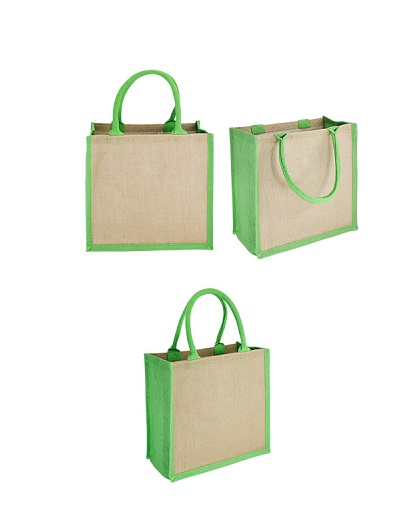 Bolsa Yute bi color-verde