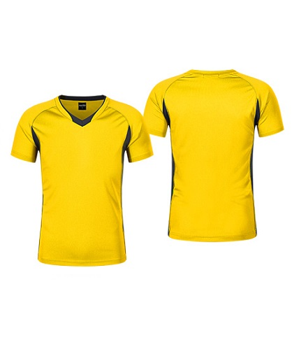 Polera Deportiva Hombre Zinedine amarillo