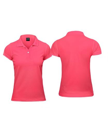 Polera Poliéster Mujer con Cuello rosado