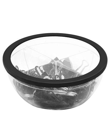 Set con clips plásticos color negro y sujeta papeles-frente