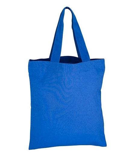 Bolsa 100% Algodón 25 x 30 cm azul